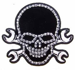 BIKE CHAIN SKULL PATCH (Sold by the piece)