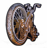 BIG WHEEL MOTORCYCLE BIKE 5 IN EMBROIDERED PATCH  (sold by the piece )