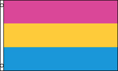 PANSEXUAL RAINBOW PRIDE  3 X 5 FLAG ( sold by the piece )