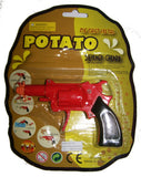 DIECAST POTATO SPUD SHOOTER GUN  /   METAL  (Sold by the dozen) - CLOSEOUT NOW $1.50 EA