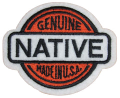 GENUINE NATIVE 3 1/2 INCH EMBROIDERD PATCH (Sold by the piece)