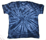 PETITE ADULT SIZE NAVY BLUE SPIDER TIE DYED TEE SHIRT (sold by the PIECE or dozen) * CLOSEOUT NOW ONLY $1.95 EA