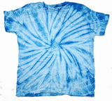 PETITE LIGHT BLUE SPIDER TIE DYED TEE SHIRT (sold by the PIECE or dozen) * CLOSEOUT NOW ONLY $ 2.50 EA - XXL ONLY