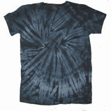 ADULT SIZE  PETITE LIGHT BLACK SPIDER TIE DYED TEE SHIRT (sold by the piece or dozen) CLOSEOUT NOW ONLY $ 2 EACH