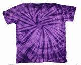 PETITE PURPLE SPIDER TIE DYED TEE SHIRT (sold by the dozen)