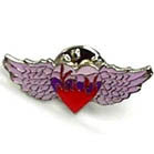 HEART WINGS HAT / JACKET PIN (Sold by the dozen) *- CLOSEOUT NOW 50 CENTS EA