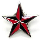 BIKER STAR HAT / JACKET PIN (Sold by the dozen)