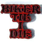 BIKER TIL I DIE HAT / JACKET PIN (Sold by the piece) *- CLOSEOUT $1 EA