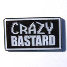 CRAZY BASTARD HAT / JACKET PIN (Sold by the piece)