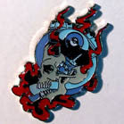 ENGINE SKULL HAT / JACKET PIN (Sold by the dozen) *- CLOSEOUT 50 CENTS EA