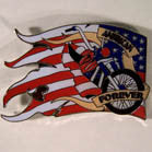 BIKE AMERICAN FLAG HAT / JACKET PIN  (Sold by the dozen)