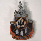BAD MEDICINE HAT / JACKET PIN  (Sold by the piece)