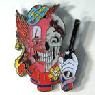 CLOWN SKULL HAT / JACKET PIN  (Sold by the dozen)