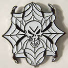 SPIDER SKULL HAT / JACKET PIN (Sold by the dozen)