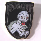 BAD TO THE BONE SKELETON HAT / JACKET PIN (Sold by the dozen)