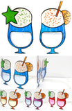PINA COLADA DRINK PARTY GLASSES (Sold by the piece or dozen ) *- CLOSEOUT $1 EA