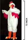 ADULT CHICKEN WHITE SUIT (Sold by the piece)