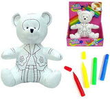 COLOR & WASH TEDDY BEAR (Sold by the piece) -* CLOSEOUT $ 3.50 EA