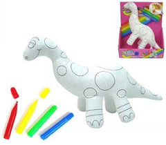 PAINTABLE DRAW ON COLOR & WASH DINOSAUR (Sold by the piece) -* CLOSEOUT $ 3.50 EA