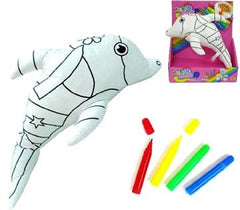DRAW ON COLOR & WASH DOLPHIN (Sold by the piece) -* CLOSEOUT NOW ONLY $ 2.50 EA