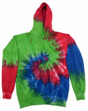 ISLAND RAINBOW SWIRL TIE DYED HOODIE (sold by the piece )