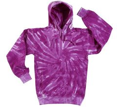 PURPLE TORNADO SWIRL TIE DYED HOODIE (sold by the piece ) *-CLOSEOUT $ 12.50 EA