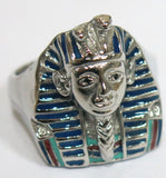 KING TUT STAINLESS STEEL BIKER RING ( sold by the piece )