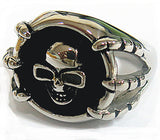 SKULL WITH CLAWS STAINLESS STEEL BIKER RING ( sold by the piece )