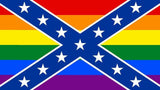 REBEL CONFEDERATE / RAINBOW  3 X 5 FLAG ( sold by the piece ) *- CLOSEOUT $ 2.95 EACH