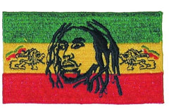 RASTA REGAE STRIPS DREADLOCKS EMBROIDERD 4in PATCH (Sold by the piece) * closeout 1.50 ea