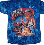 LONG NECKS RED NECKS TYE DYE SHORT SLEEVE TEE SHIRT (Sold by the piece) SMALL ONLY  CLOSEOUT $ 2.50 EA