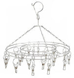 ROUND FLAG / HAT DISPLAY HANGING 16 PC CLIP RACK (Sold by the piece) - * CLOSEOUT NOW $7.50 EA