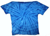 ROYAL BLUE PETITE SPIDER TYE DYED TEE SHIRT (sold by the piece or dozen ) * CLOSEOUT NOW ONLY $ 2.50 EA