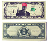 DONALD TRUMP 2018 RED HAT DOLLAR FAKE MONEY BILL (Sold by the pad of 25 bills )