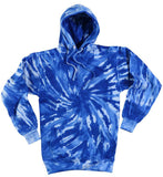 ROYAL BLUE TORNADO SWIRL TIE DYED HOODIE (sold by the piece ) *- CLOSEOUT NOW AS LOW AS $9.50 EA