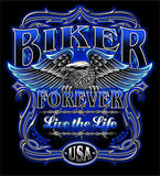 BIKER FOREVER SHORT SLEEVE TEE-SHIRT (Sold by the piece) CLOSEOUT $3.50