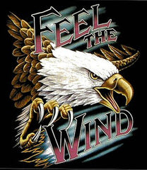 FEEL THE WIND FLYING EAGLE SHORT SLEEVE TEE-SHIRT (Sold by the piece) * CLOSEOUT $2.95 EA
