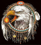 EAGLE HEAD DREAMCATCHER SHORT SLEEVE TEE-SHIRT (Sold by the piece)  *- CLOSEOUT $ 2.50 EA