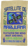 SATELLITE OG KUSH MARIJUANA BURLAP BAG ( sold by the piece )
