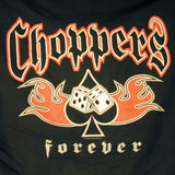 CHOPPERS CARD SUPER BLACK  TEE SHIRT SIZE LARGE ONLY  (Sold by the piece)
