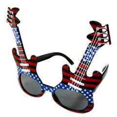 AMERICAN FLAG GUITAR PARTY GLASSES (sold by the piece or dozen  )