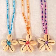 FLOWER SEED BEAD NECKLACES (Sold by the dozen) * CLOSEOUT NOW ONLY 75 CENT EA