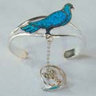 BIRD CUFF SLAVE BRACELET W RING ON CHAIN (Sold by the piece) *- CLOSEOUT NOW $ 4.95 EA