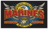 MARINES SPECIAL MISSION USMC DELUXE 3 X 5 FLAG ( sold by the piece )