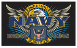 NAVY SPECIAL MISSION USMC DELUXE 3 X 5 FLAG ( sold by the piece )