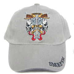 SMOKE EM IF YOU GOT EM GUNS EMBROIDERED BASEBALL HAT  (Sold by the piece) -* CLOSEOUT ONLY $ 1.95 EA