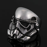 SPACE TROOPER STAINLESS STEEL BIKER RING ( sold by the piece ) -* CLOSEOUT NOW $ 3.95 EA