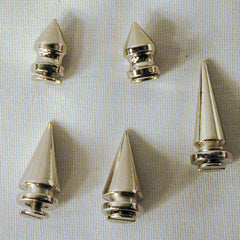 LARGE METAL SPIKES W SCREW (Sold by the dozen)