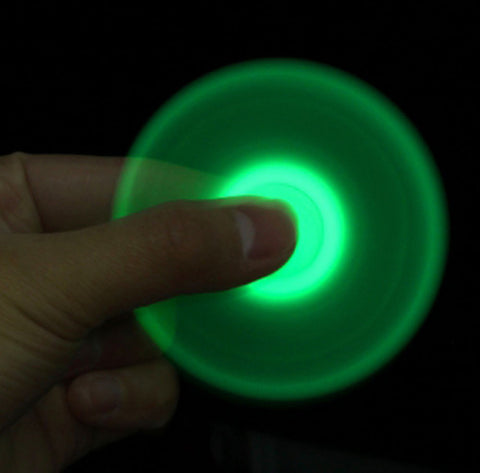 TWO TONE GLOW IN THE DARK FINGER FIDGET HAND FLIP SPINNERS Sold By The Dozen