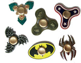 ASSORTED DESIGNS CARDED METAL ASSORTED COLOR FINGER FIDGET HAND FLIP SPINNERS ( sold by the piece or  dozen   )